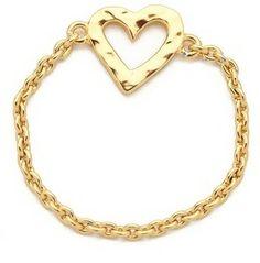 Gorjana Heart Chain Ring on shopstyle.com