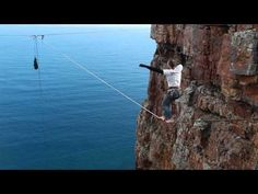Base Jumping and Slacklining Off The Sentinel in Cape Town   Bangers and Nash