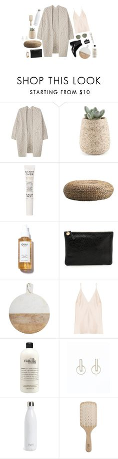 """morning"" by yetthisonecounts ❤ liked on Polyvore featuring MANGO, Sunday Riley, Clare V., Master Class, Juan Carlos Obando, philosophy, S'well and Philip Kingsley"
