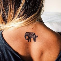 Elephant tattoos are popular among persons who readily connect...