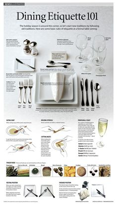 Dining etiquette-- the fact that I love these things proves I was born at the wrong time