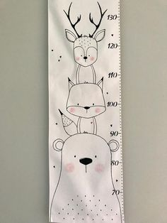 Fabric Growth Chart, Baby Messages, Growth Chart Ruler, Diy Bebe, Cute Paintings, Fabric Markers, Baby Room Decor, Baby Bedroom, Woodland Creatures