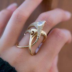 Это Мария Желтое золото Кольцо Современный дизайн