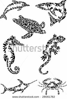 abstract sea creatures by LYLO, via Shutterstock