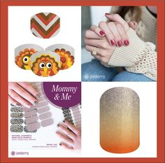 "Jen, Thank you for your order. Sapphira and you will definitely be ready for the holidays in your Mommy and Me coordinates (Clockwise from the left: Gobble Me Up Jamberry Juniors, Santa Suit and Santa's Little Helper Juniors, and Pumpkin Spice). Let me know if you would like to get together for a ""Jam Session"" when your order comes in."