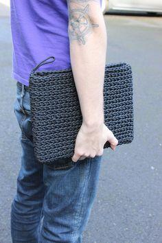 Paracord (550 Cord) Laptop Sleeve in Black, Laptop Cover, Macbook Pro Case, Laptop Case, Notebook Bag **Request Color**