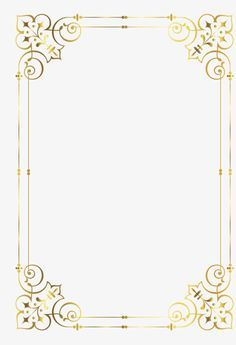 Gold frame, Golden, Frame, Pattern PNG Image and Clipart Frame Border Design, Page Borders Design, Borders For Paper, Borders And Frames, Wedding Cards, Wedding Invitations, Molduras Vintage, Invitation Background, Writing Paper