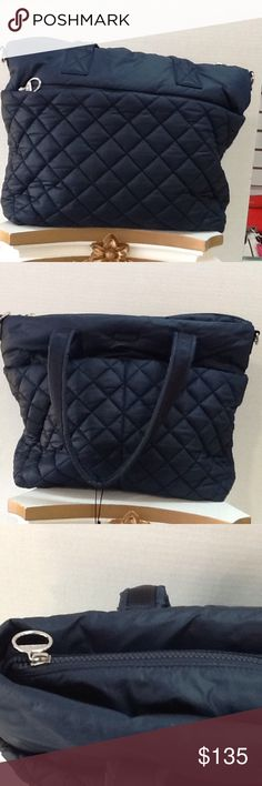 Authentic Michael Kors Roberts Large Gym Tote Navy Brand new retail for $228 Michael Kors Bags