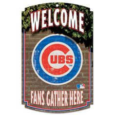 Chicago Cubs Sign Fans Gather Here
