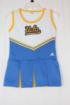 360dfc36a Adidas UCLA Bruins Cheerleader Uniform Costume Dress Youth Medium 10-12
