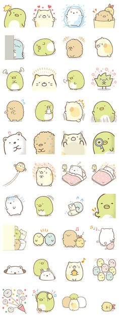 Line Sticker Kawaii Doodles, Cute Doodles, Kawaii Chibi, Kawaii Art, Cute Stickers, Kawaii Stickers, Tumblr Stickers, Printable Stickers, Arte Horror