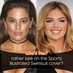 Who would you rather see on the cover of Sports Illustrated Swimsuit Edition? Ashley Graham vs. Kate Upton? #SportsIllustrated #SwimsuitEdition #KateUpton #AshleyGraham