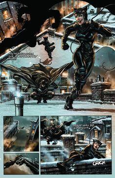 Batman: Noel: Batman chases Catwoman