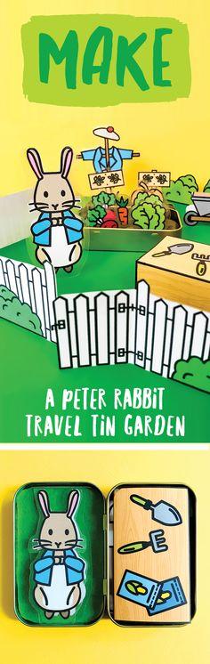 Travel Tin Peter Rabbit Garden - so many things! rabbit quotes Freebie: A Travel Tin Peter Rabbit Garden - barley & birch Spring Crafts For Kids, Diy Projects For Kids, Easy Crafts For Kids, Diy For Kids, Toddler Crafts, Rabbit Garden, Rabbit Art, Preschool Garden, Garden Kids
