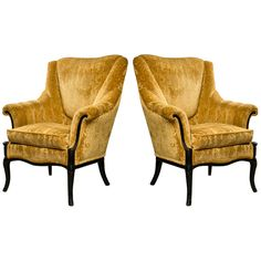 1stdibs | Pair of Paint Deco Fireside Chair
