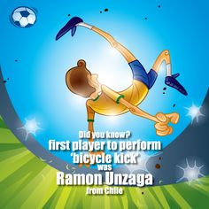 Ramon #Unzaga is the cool #footballer from #Chile who first tried the bicycle kick. But did he score?
