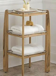 """New Grade A Teak Bath / Shower Shelf / Organizer by WholesaleTeak. $449.99. Approx Dimensions: 17.5""""W x 20.5""""D x 36""""H. Pairs nicely with our Bath Mat and Shower Bench, Please check our other items from our inventory.. endures steamy bath environments, while affording the perfect perch for toiletries and towels.. Shelf features 3 stainless steel-bordered shelves.. Constructed by hand of sustainably harvested premium-grade Indonesian teak.. Constructed by hand of sustainab..."""