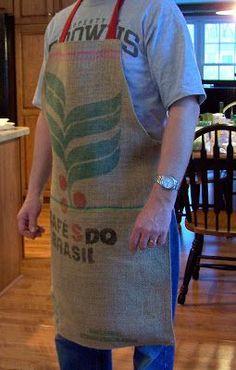 Tutorial – Make a Unique Coffee Bag Apron - juan container - Kaffee Best Coffee Mugs, Unique Coffee Mugs, Great Coffee, Funny Coffee Mugs, Coffee Shop, Coffee Coffee, Starbucks Coffee, Coffee Drinks, Coffee Bean Sacks