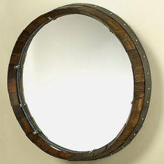 Reclaimed Barrel Head Mirror - Wine Enthusiast
