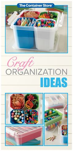 Craft supply organization just got a whole lot easier. Shop the perfect solution for markers, tape, paint, and scrapbooking materials. Craft Storage Drawers, Craft Storage Cart, Craft Storage Containers, Shop Display Stands, Scrapbook Storage, Family Organizer, Shop Organization, Shop Front Design, Container Store