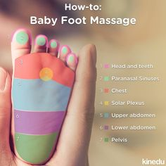 Does your baby have colics? Give him or her some peace with a foot massage!
