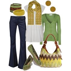 green and mustard.