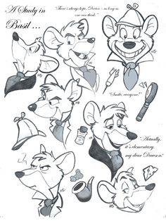 the great mouse detective drawing