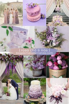 Decoração de Casamento : Paleta de Cores Rosa Chá e Lilás   Blog de Casamento DIY da Maria Fernanda