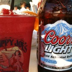 Cold beverages on a hot day.
