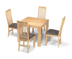 Solid Oak Dining Set 6 Chairs