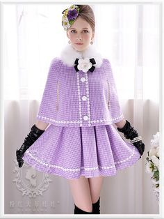 Mango Doll - Purple Plaid Wool Dress , $116.00 (http://www.mangodoll.com/all-items/purple-plaid-wool-dress/)