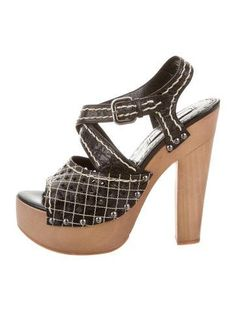 fashionable cheap price Prada Laser Cut Platform Sandals cheap 2014 unisex e70OMZ