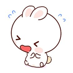LINE Creators' Stickers - Happy bunny Sunny 2 Example with GIF Animation Cute Cartoon Images, Cute Love Cartoons, Cartoon Art, Family Stickers, Cute Stickers, Cute Screen Savers, Chibi Cat, Emoji Pictures, Cute Love Gif