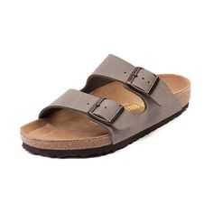 Slide into classic sandal bliss with the Birkenstock Arizona! Promoting premium comfort, balance, and support, this synthetic leather slide sandal features a textured Birkibuc upper and anatomically correct corklatex footbed molded to the contours of your foot. Includes adjustable buckle straps for notching up that perfect fit, a flexible EVA outsole for lightweight shock absorption, and moisture-wicking dual layer jute for sandal preservation and durability.