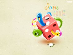 FARKLE June calendar. Nice colorful and funny dice! :)