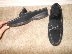"Women's Cole Haan Black Suede ""Mardi"" Slip On Shearling Mule Size 9.5B #ColeHaan #Mules #any"