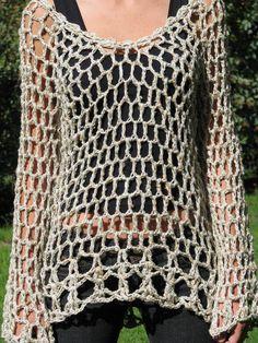 Fabulous Crochet a Little Black Crochet Dress Ideas. Georgeous Crochet a Little Black Crochet Dress Ideas. T-shirt Au Crochet, Cardigan Au Crochet, Pull Crochet, Black Crochet Dress, Crochet Shirt, Crochet Jacket, Chunky Crochet, Crochet Woman, Crochet Stitches Patterns