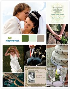 Celtic theme colors, check out this site for lots of color inspiration and theme boards