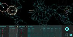 Norse Cyber Attack Map [Norsecop] #Technology #CyberAttacks #InteractiveModule #ContentMarketing #infogr8