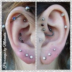 helix tragus daith piercing - Google Search