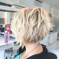 Choppy And Tousled Blonde Bob