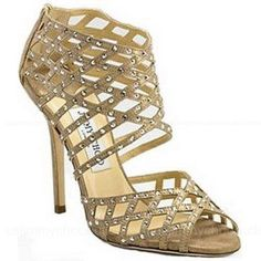50a7cebbfd5949 Jimmy Choo Enigma Metallic Suede Outlet Sandals - 185 Suede Sandals