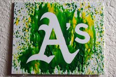 Oakland Athletics Melted Crayon Art by MikeAndKatieMakeArt on Etsy