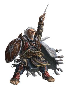 Now there is something that you just don't see every day!  Halfling elder wizard