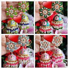 Indian Earrings, Indian Jewelry, Indian Accessories, Antique Jewelry, Christmas Bulbs, Handmade Jewelry, Chokers, Holiday Decor, Stuff To Buy