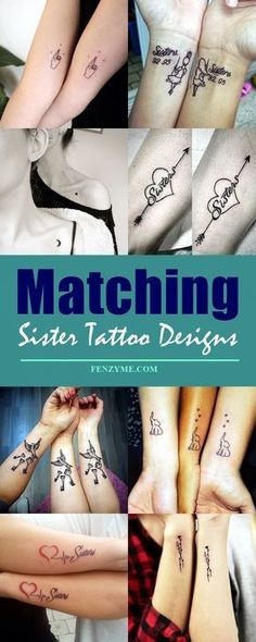 65 Matching Sister Tattoo Designs To Get Your Feelings Inked