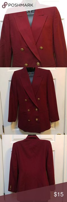 Talbots Burgundy Dress Blazer This blazer is perfect for the office. You can also wear casual paired with your favorite pair of jeans. Fully lined. Size 4P. 100% wool. In great condition. Talbots Jackets & Coats Blazers