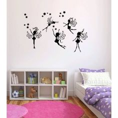 : Fairies Vinyl Wall Decal Sticker Graphic By LKS Trading Post: Baby