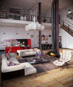Industrial chic wohnzimmer  Loft Wohnzimmer in Betonoptik. | Wohnzimmer Deluxe | Pinterest ...