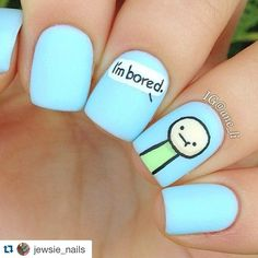 """No I m not bored, but I love this nail art...thanks"" Photo taken by @alexandravicunaperry on Instagram, pinned via the InstaPin iOS App! http://www.instapinapp.com (08/11/2015)"